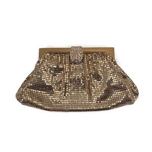 Whiting & Davis Vintage Gold Metal Mesh Bag